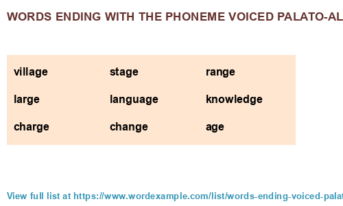 Words ending with the phoneme voiced palato-alveolar affricate /d͡ʒ/ (341  results)